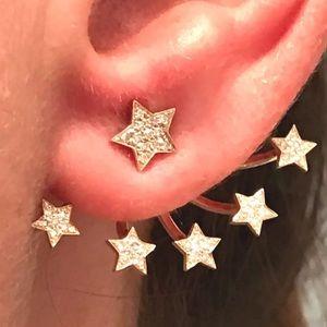 Jewelry - 14kt single diamond floating earring